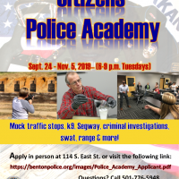 BNPD TO HOST 16TH ANNUAL CITIZENS POLICE ACADEMY